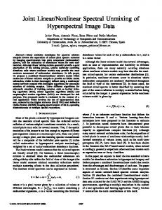 Nonlinear Spectral Unmixing of Hyperspectral ... - UMBC