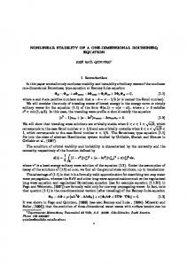 NONLINEAR STABILITY OF A ONE-DIMENSIONAL ... - CiteSeerX