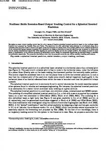 Nonlinear Stable Inversion-Based Output Tracking Control for a ...