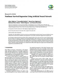 Nonlinear Survival Regression Using Artificial Neural Network