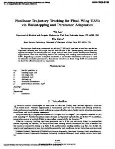 Nonlinear Trajectory Tracking for Fixed Wing UAVs ... - Semantic Scholar