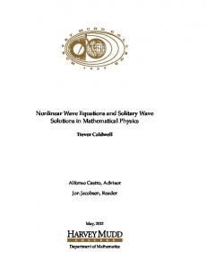 Nonlinear Wave Equations and Solitary Wave Solutions in ...