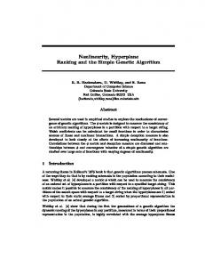 Nonlinearity, Hyperplane Ranking and the Simple ...