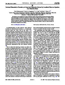 Nonlocal Dissociative Chemistry of Adsorbed Molecules Induced by ...