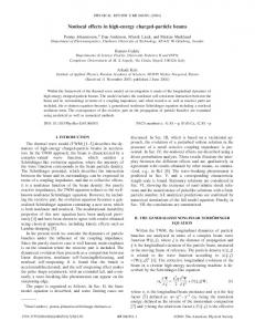 Nonlocal effects in high-energy charged-particle ... - APS Link Manager