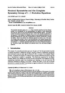 Nonlocal Symmetries and the Complete Symmetry Group ... - CiteSeerX