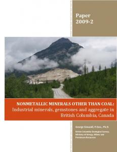 Nonmetallic minerals other than coal : industrial ...