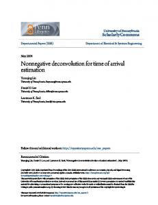 Nonnegative deconvolution for time of arrival ... - ScholarlyCommons