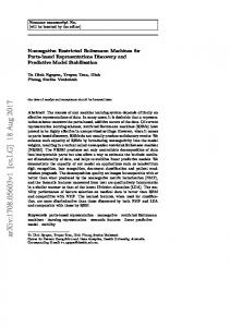 Nonnegative Restricted Boltzmann Machines for Parts-based ...