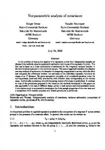 Nonparametric analysis of covariance