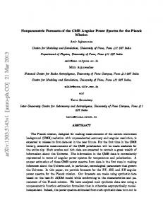 Nonparametric Forecasts of the CMB Angular Power Spectra for the ...