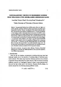 nonparametric testing in regression models with ...
