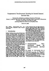 Nonparametric Tree-Structured Modeling for Interval ... - CiteSeerX