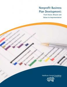 nonprofit Business Plan development: