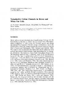 Nonselective Cation Channels in Brown and White Fat ... - Springer Link