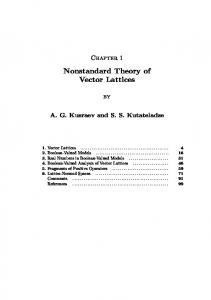 Nonstandard Theory of Vector Lattices