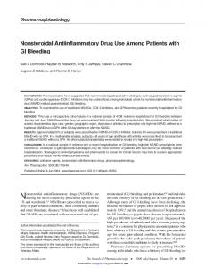 Nonsteroidal Antiinflammatory Drug Use Among ...