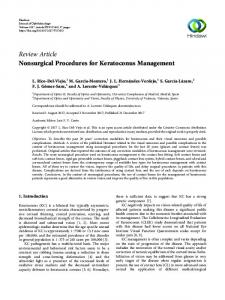 Nonsurgical Procedures for Keratoconus Management