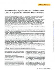 Nontuberculous Mycobacteria: An Underestimated