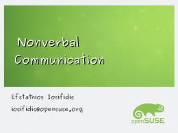 Nonverbal Communication - openSUSE