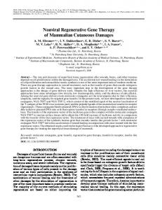 Nonviral Regenerative Gene Therapy of Mammalian ... - Springer Link