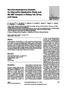 Norchlorotestosterone Acetate: An Alternative Metabolism Study and