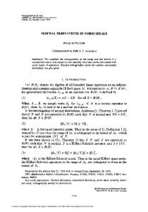 NORMAL DERIVATIONS IN NORM IDEALS then