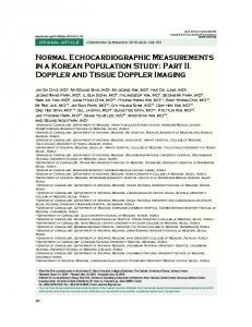 Normal Echocardiographic Measurements in a ... - KoreaMed Synapse
