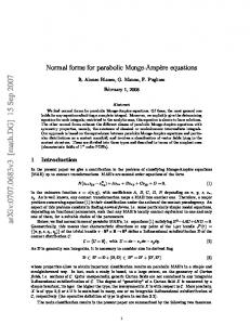 Normal forms for parabolic Monge-Ampere equations