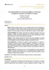Normalizing Difference: Emotional intelligence and ... - Intangible Capital