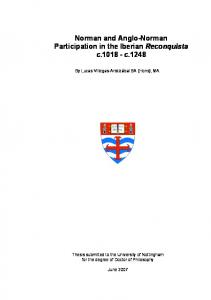 Norman and Anglo-Norman Participation in the