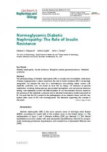 Normoglycemic Diabetic Nephropathy: The Role of ... - BioMedSearch