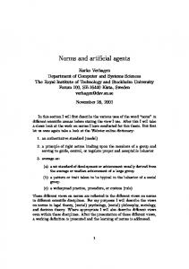 Norms and artificial agents
