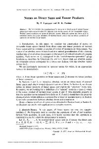 Norms on Direct Sums and Tensor Products - American Mathematical