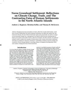 Norse Greenland Settlement - Lakehead University