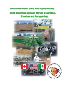 North American Agrifood Market Integration: Situation and ...