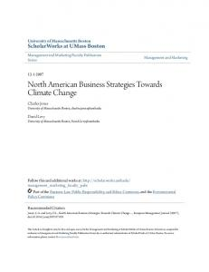 North American Business Strategies Towards Climate Change
