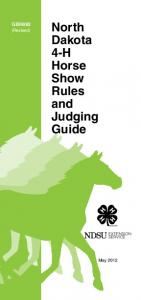 North Dakota 4-H Horse Show Rules and Judging Guide