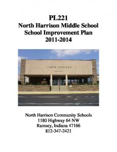North Harrison Middle School School Improvement Plan 2011-2014