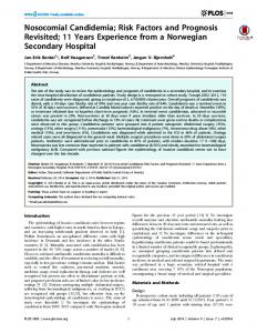 Nosocomial Candidemia; Risk Factors and ... - Semantic Scholar