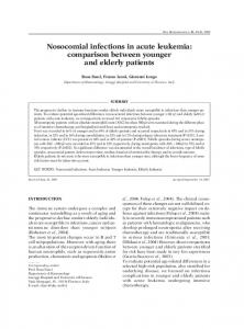 Nosocomial infections in acute leukemia - New Microbiologica