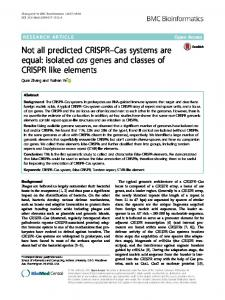 Not all predicted CRISPR–Cas systems are equal ... - Semantic Scholar