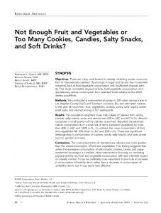 Not Enough Fruit and Vegetables or Too Many ... - SAGE Journals