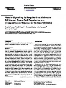Notch Signaling Is Required to Maintain All Neural ... - Semantic Scholar