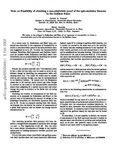 Note on Possibility of obtaining a non-relativistic proof of the spin