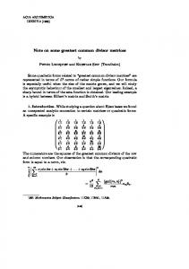 Note on some greatest common divisor matrices