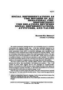 NOTE - Papers on Social Representations