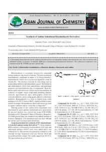 NOTE Synthesis of Aniline Substituted Benzimidazole Derivatives