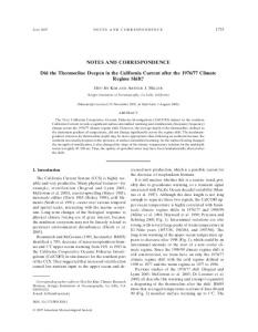 NOTES AND CORRESPONDENCE Did the Thermocline ... - CCE LTER
