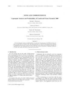 NOTES AND CORRESPONDENCE Lagrangian Analysis and ...